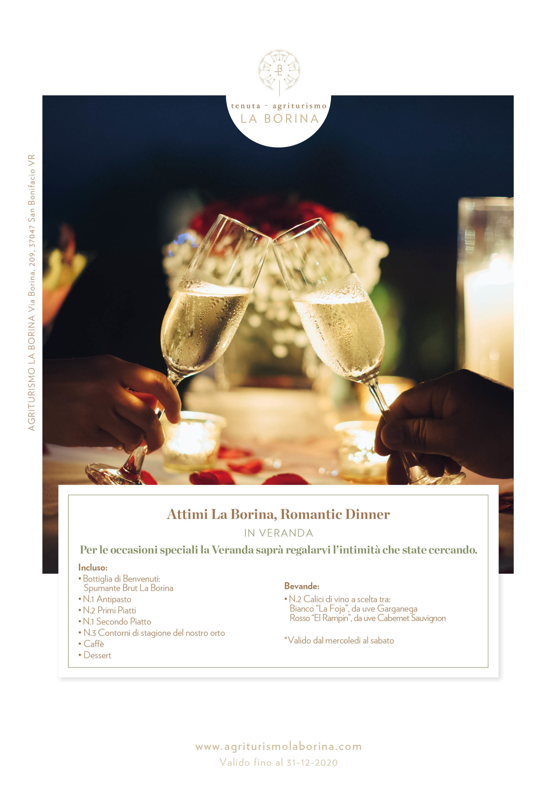 Romantic Dinner in Veranda